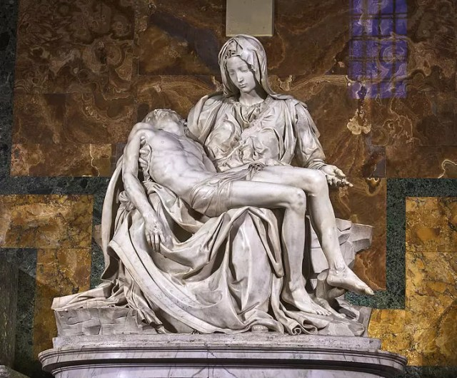 Michelangelo's Pièta, Wikimedia Commons User: Juan M Romero