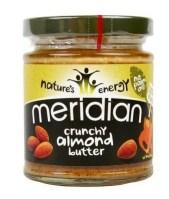 productos para celiacos saludables-mantequilla-de-almendra-crujiente-meridian