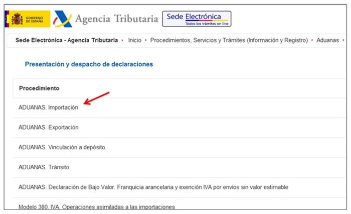 gestión del Dua Agencia Tributaria2
