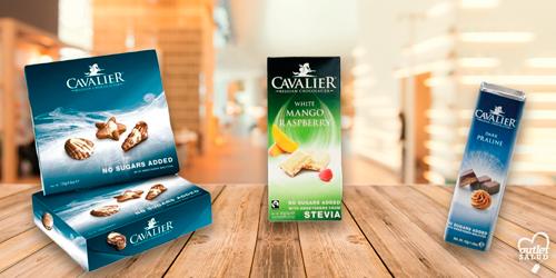 Cavalier, chocolate belga con Estevia y sin azúcar