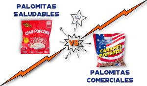 Palomitas saludables contra palomitas comerciales