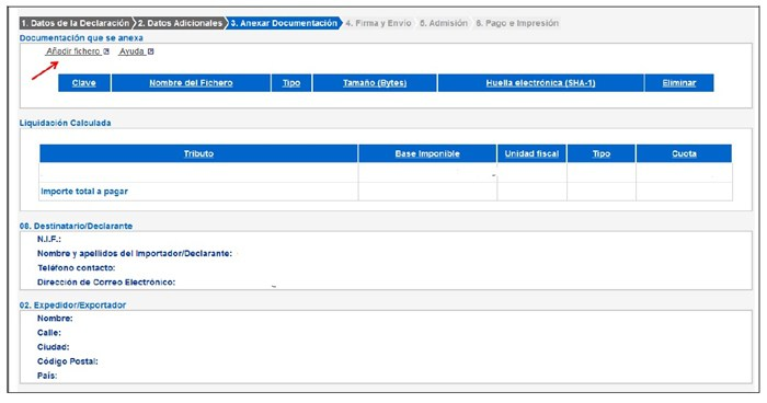 Gestión del DUA Anexar Documentación con Outletsalud