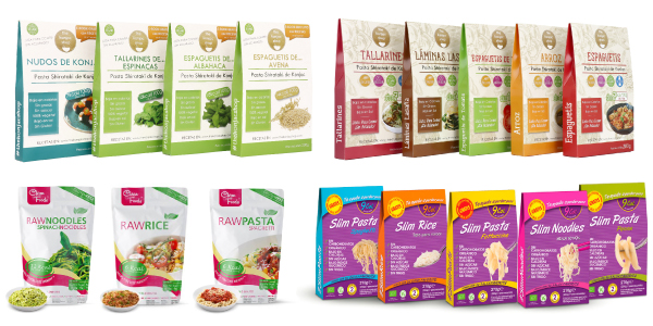 Pasta de Konjac The Konjac Shop, Raw Pasta y Slim Pasta en OutletSalud