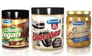 Cremas de chocolate, de cacahuete, de avellanas Quamtrax, perfectas para todo tipo de dieta