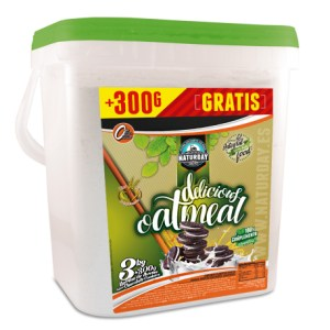 HARINA DE AVENA DELICIOUS OAT MEAL NATURDAY 3 KG + 300 G