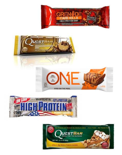 Barritas con Cacahuetes ricas en fibra y proteínas, bajas en carbohidratos