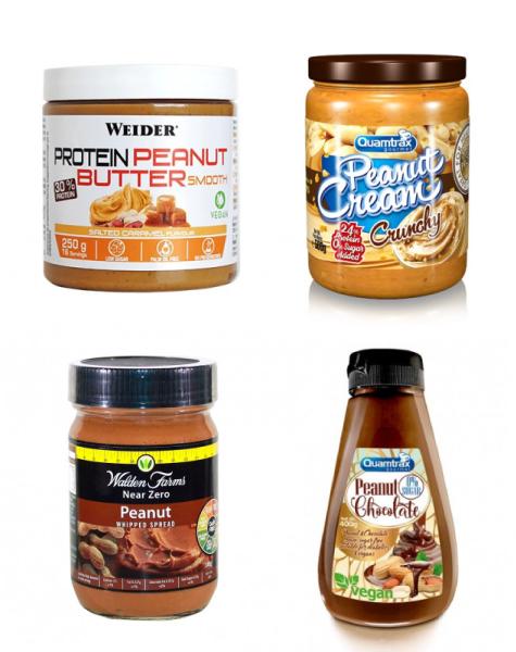 Cremas de cacahuete bajas en hidratos de carbono