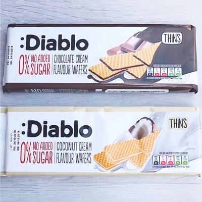 Barquillos Rellenos sin azúcar añadido de Diablo Sugar Free en Outletsalud