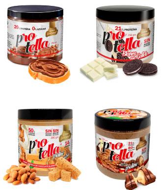 Cremas para untar sin azúcar añadido Protella en Outletsalud