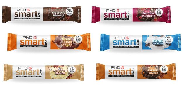 Barritas Smart Bar PhD Nutrition bajas en carbohidratos en Outletsalud