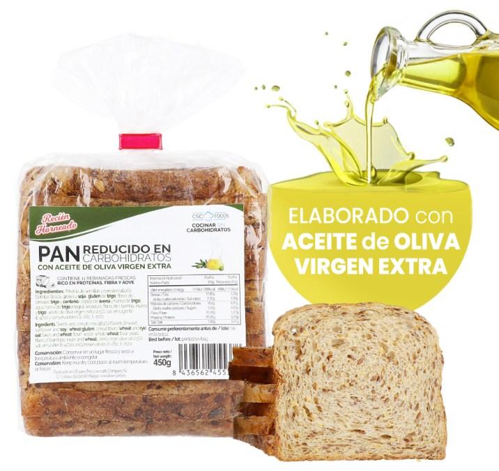 Ingredientes del Pan de Molde Proteico Bajo en Carbohidratos de CSC Foods en OutletSalud