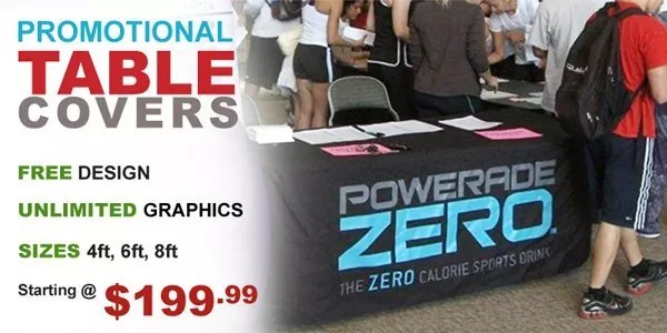 Customized Table Covers starting from $199.99