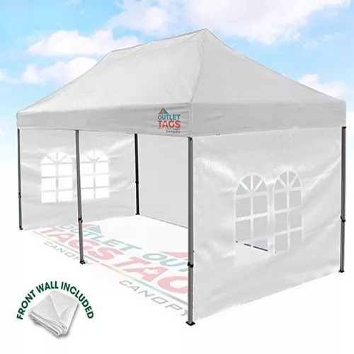 10x20 White Canopy With walls