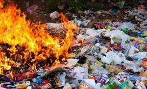 Plastic-burning pollution