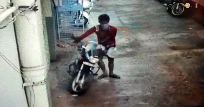 bike theft the was captured on camera
