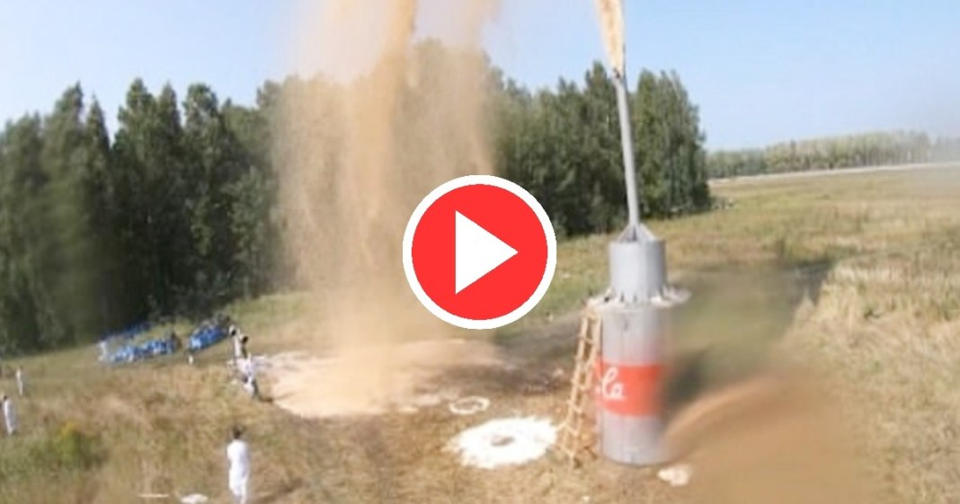 Russian YouTuber Creates Giant Explosion Using 10,000 Litres Of Coca-Cola & Baking Soda