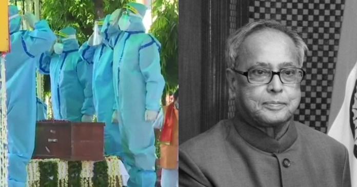 Former President Pranab Mukherjee's last rites held with full military honours