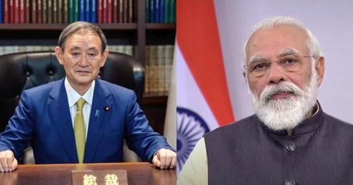 PM Narendra Modi speaks to Japan's Yoshihide Suga