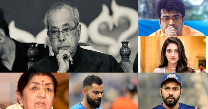 Pranab Mukherjee dies at 84: Virat Kohli, Rohit Sharma, Prosenjit Chatterjee, Ajay Devgn, Lata Mangeshkar mourn death of former Indian President