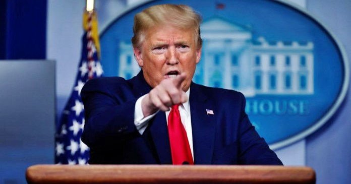Trump on China again for corona virus