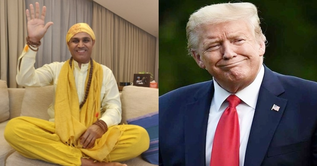 Virender Sehwag posts hilarious recovery message for COVID-infected Donald Trump