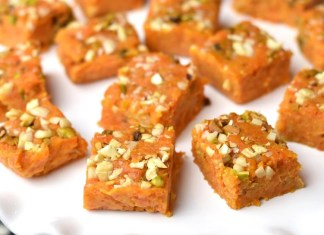 make delicious carrot barfi easily at home