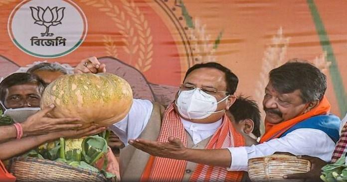BJP president Nadda launches 'Lokkho Sonar Bangla' campaign