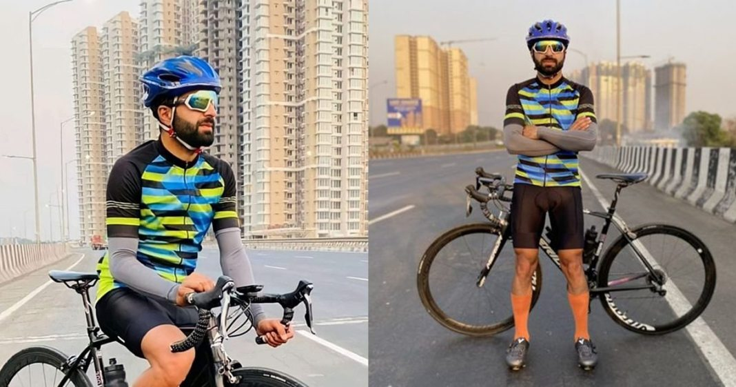 Adil Teli a professional cyclist created a world record by cycling from Kashmir to Kanyakumari in just 8 days