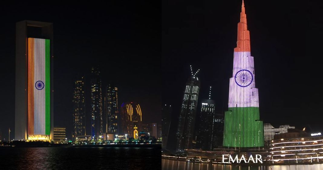 Stay Strong India UAE Burj Khalifa Light Up With Tricolor In Support Amid Covid Surge