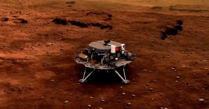 China Spacecraft Touches Down On Red Planet