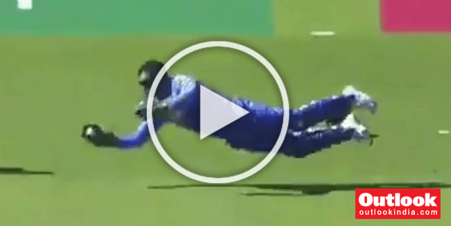 WATCH: MS Dhoni Takes Stunning Diving Catch To Dismiss