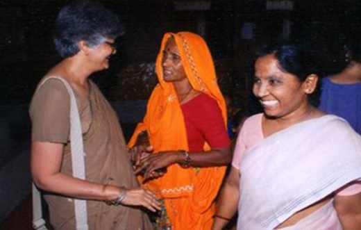 Author Kalpana Kannabiran with Bhanwari Devi. (Photo Credit: Asmita Archives, Hyderabad)