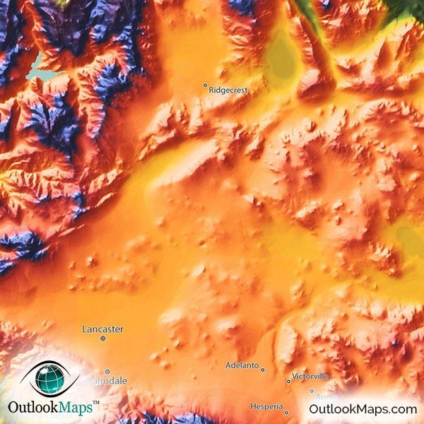 Colorful California Map