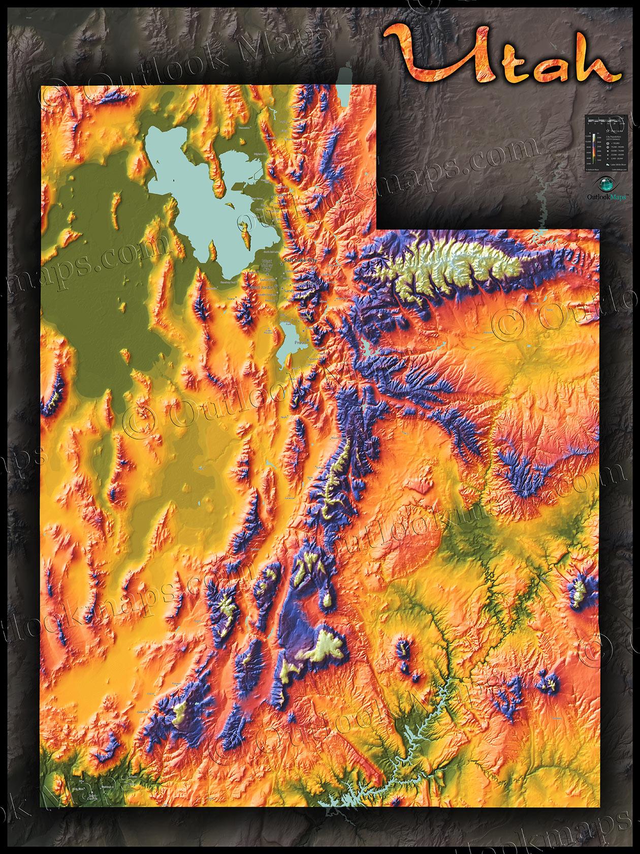 Montana Topographic Map - Montana topo map
