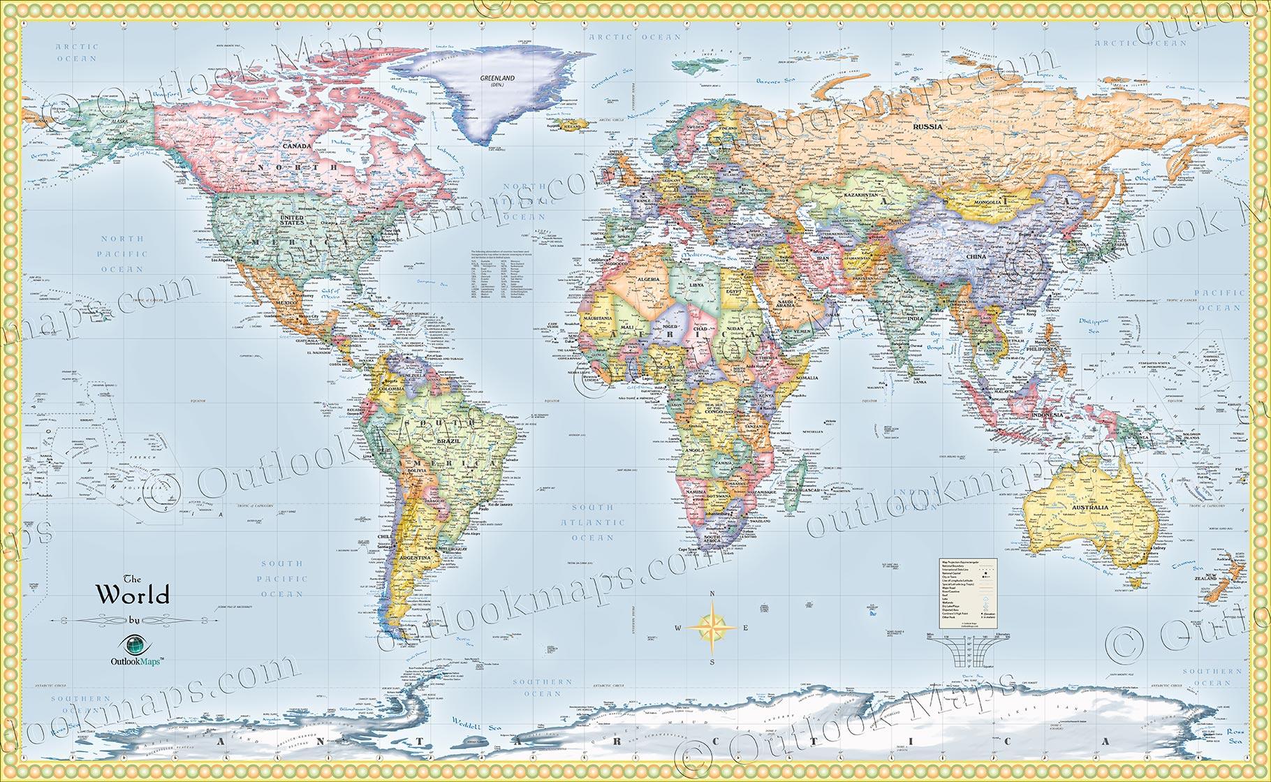 World Political Wall Map