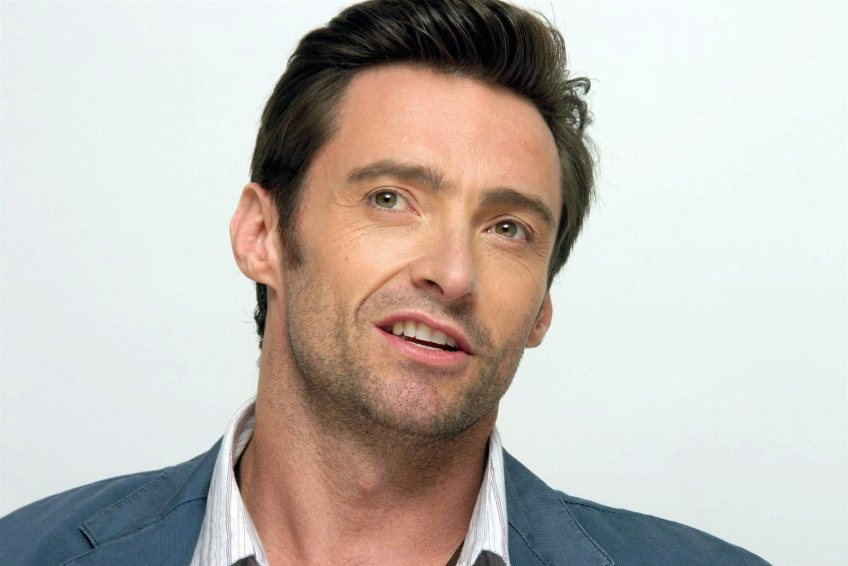 LOS ANGELES - OCTOBER 16: Actor Hugh Jackman talks at the Four Seasons Hotel on October 16, 2006 in Los Angeles, California. (Photo by Piyal Hosain/Fotos International/Getty Images)