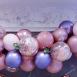 Outofmybubble Rose Gold Balloon Garland Pink Arch Confetti Purple Chrome