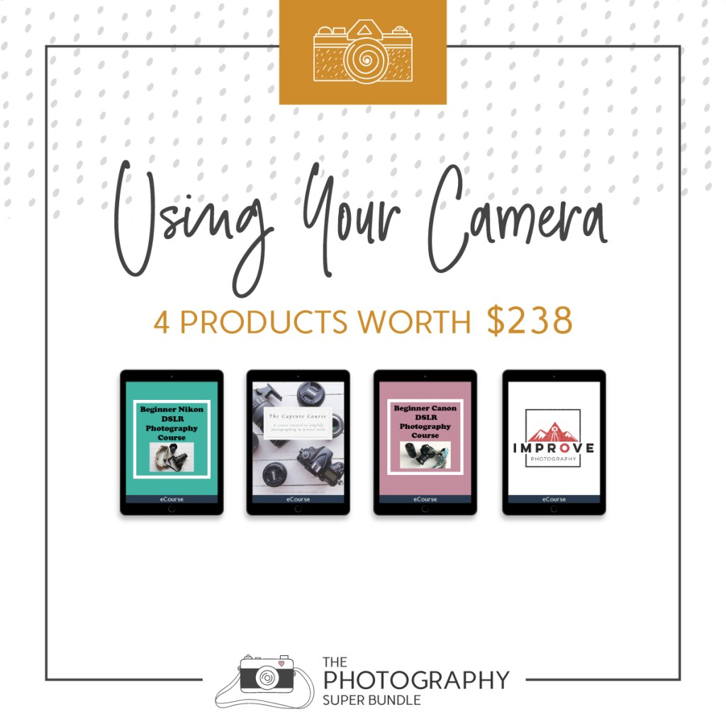 Using Your Camera 4 products worth $238