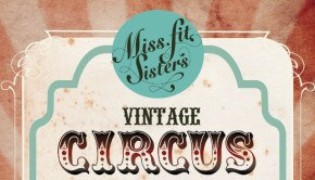 Miss Fit Sisters Vintage Circus Poster