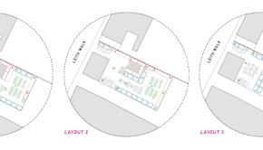 Architectural drawings of the proposed layouts for a new Arts Space off Leith Walk, Edinburgh