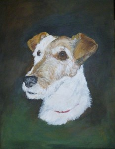 MOLLY Acrylic painting on canvas (painted for a commission)