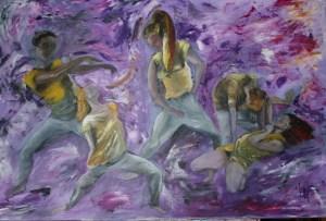 Dominatrix 91 cm x 61 cm Acrylic on stretched canvas