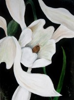 SNOWDROP Acrylic on stretched canvas 41 cm x 31 cm