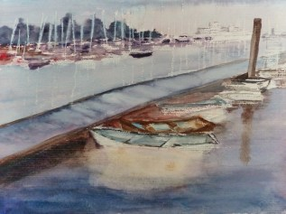 """Boats"" - not finished but hopefully will show promise when it is!"