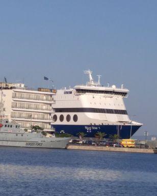 Ferry in Mitilini, Lesvos
