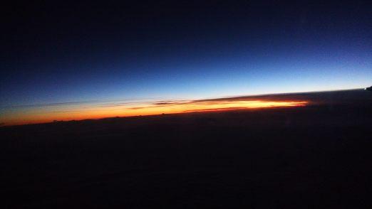 Sunrise flying East