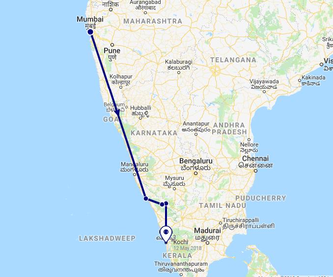 First Kerala Itinerary