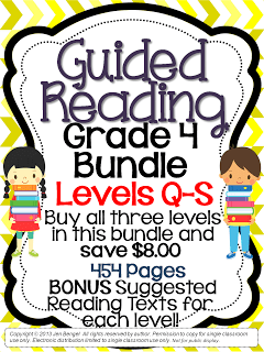 Grade 4 Guided Reading Bundle is Finished! And on Sale all Weekend!!