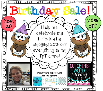 Birthday Sale!  Plus a FREEBIE