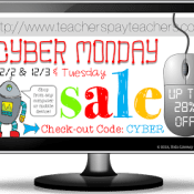 Cyber Monday SALE and Linky Party!
